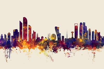 Abu Dhabi Skyline Poster