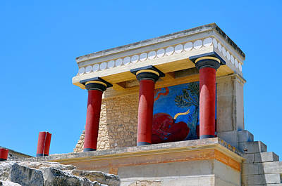 Archaeological Site Of Knossos. Minoan Palace. Crete. Poster by Fernando Barozza