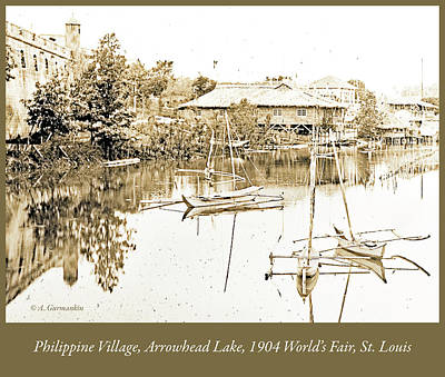 Arrow Head Lake, Philippine Village, 1904 Worlds Fair, Vintage P Poster