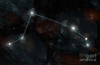 Artists Depiction Of The Constellation Poster by Marc Ward