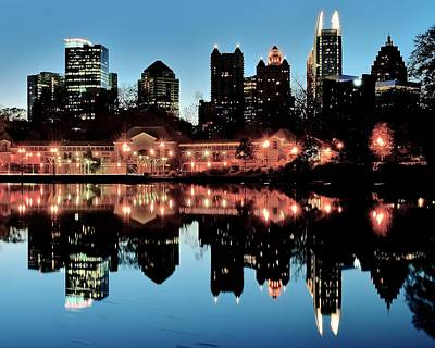 Atlanta From Piedmont Park Poster by Frozen in Time Fine Art Photography