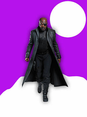 Avengers Nick Fury Collection Poster