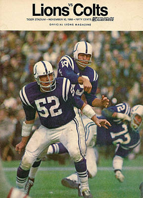 Baltimore Colts Vintage Program Poster