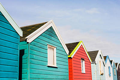 Beach Huts Poster by Tom Gowanlock