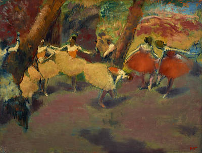 Before The Performance Poster by Edgar Degas