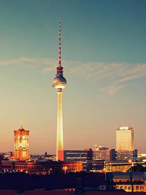 Berlin Skyline Poster by Alexander Voss