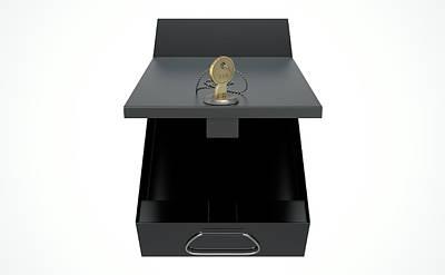 Black Safe Deposit Box Poster by Allan Swart