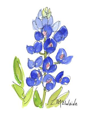 Bluebonnet Poster by Kathleen McElwaine