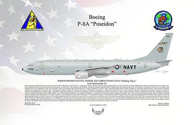 Boeing P-8a Poseidon Poster