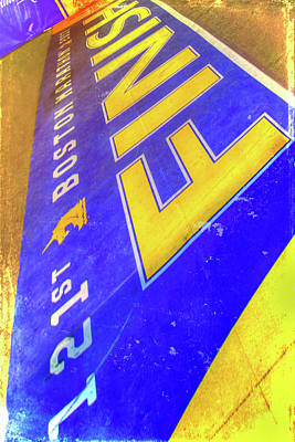 Poster featuring the photograph Boston Marathon Finish Line by Joann Vitali