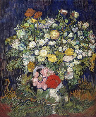 Bouquet Of Flowers In A Vase Poster by Vincent van Gogh