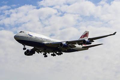 British Airways Boeing 747 Poster by David Pyatt