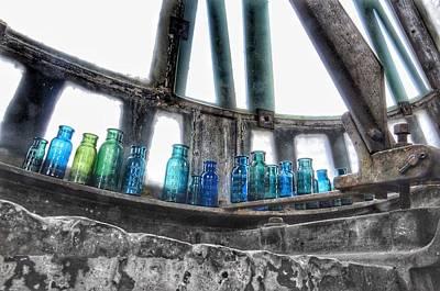 Bromo Seltzer Vintage Glass Bottles Poster