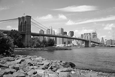 Brooklyn Bridge - New York City Skyline Poster by Frank Romeo