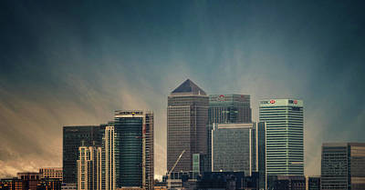 Canary Wharf Poster by Martin Newman