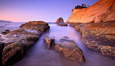 Poster featuring the photograph Cape Kiwanda by Evgeny Vasenev