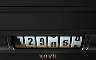 Car Odometer High Poster by Allan Swart