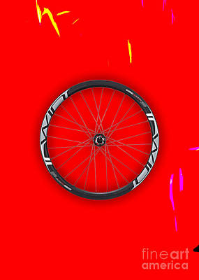 Carbon Fiber Bicycle Wheel Collection Poster