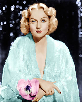 Carole Lombard, Ca. 1930s Poster by Everett