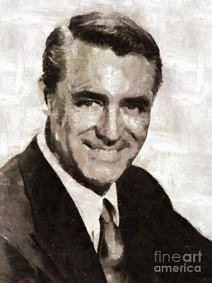 Cary Grant Hollywood Actor Poster by Mary Bassett