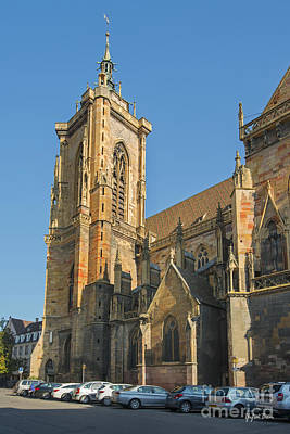 Cathedral Of Saint Martin In Colmar Poster by Yefim Bam