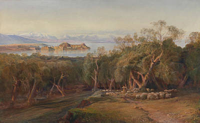 Corfu From Ascension Poster by Edward Lear
