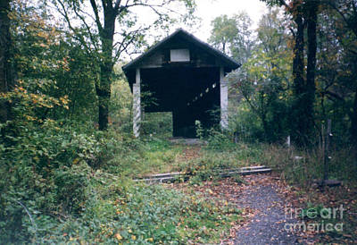 Covered Bridge In Pennsylvania Poster by Ruth Housley
