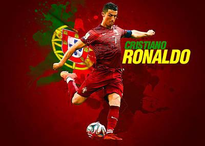 Cristiano Ronaldo Poster by Semih Yurdabak