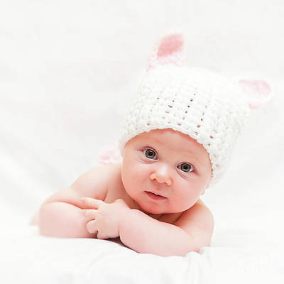 Cute Newborn Portrait Poster by Gualtiero Boffi