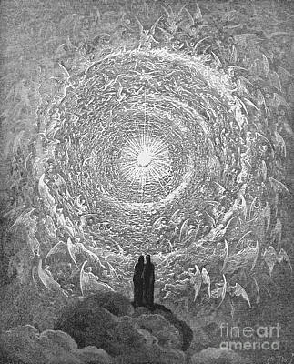 Poster featuring the photograph Dante Paradise by Gustave Dore