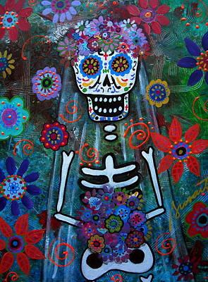 Day Of The Dead Bride Poster by Pristine Cartera Turkus