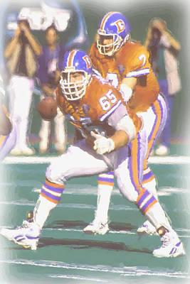 Denver Broncos John Elway Poster by Joe Hamilton