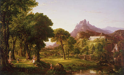 Dream Of Arcadia Poster by Thomas Cole