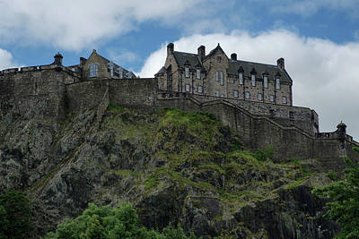 Poster featuring the photograph Edinburgh Castle In Scotland by Jeremy Lavender Photography