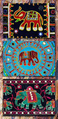 3 Elephants Poster by Tim Gainey