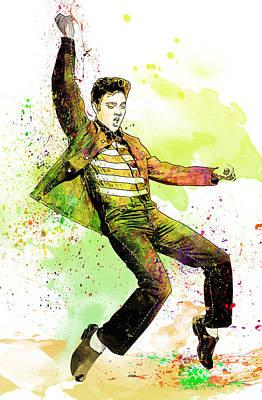 Elvis Presley Poster by Elena Kosvincheva