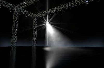 Empty Stage Spotlit Poster
