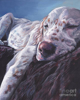 Poster featuring the painting English Setter by Lee Ann Shepard