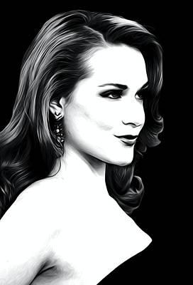 Evan Rachel Wood Art Poster