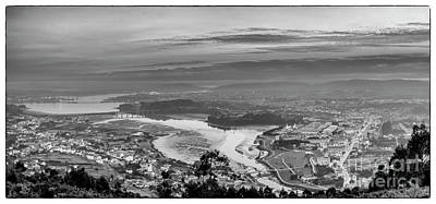 Poster featuring the photograph Ferrol's Ria Panorama From Mount Ancos Galicia Spain by Pablo Avanzini