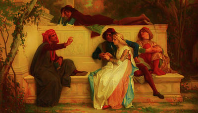 Poster featuring the painting Florentine Poet by Alexandre Cabanel