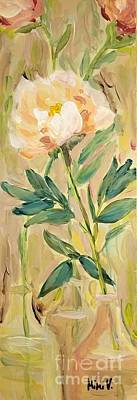 Poster featuring the painting 3 Flowers by Maria Langgle