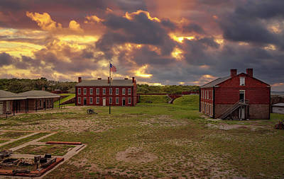 Poster featuring the photograph Fort Clinch by Peter Lakomy