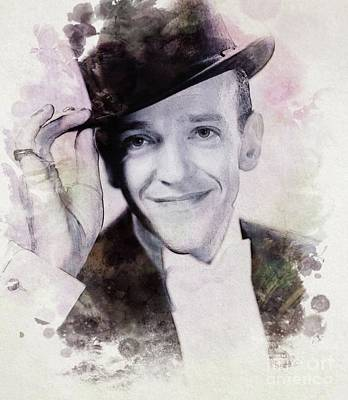 Fred Astaire, Vintage Actor And Dancer Poster