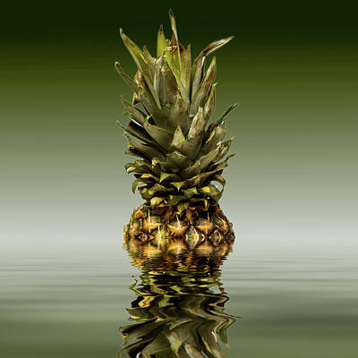 Poster featuring the photograph Fresh Ripe Pineapple Fruits by David French