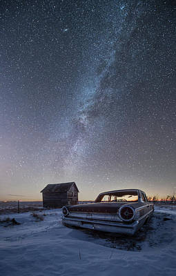 3 Galaxies  Poster by Aaron J Groen