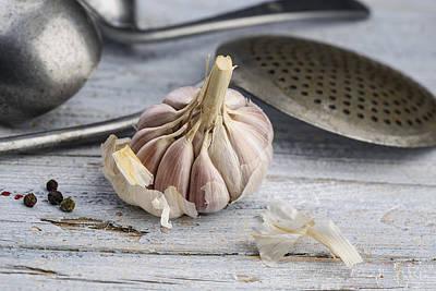 Garlic Poster by Nailia Schwarz