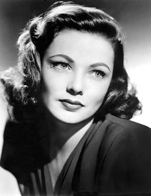 Gene Tierney, Circa 1940s Poster by Everett
