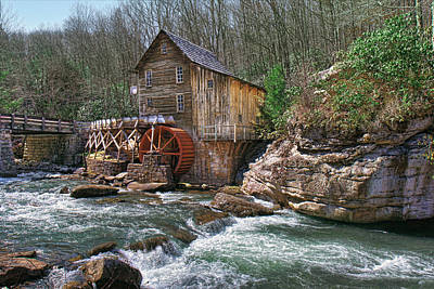 Glade Creek Grist Mill Poster by Mary Almond
