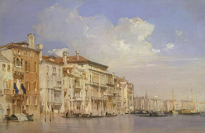Grand Canal, Venice Poster by Richard Parkes Bonington